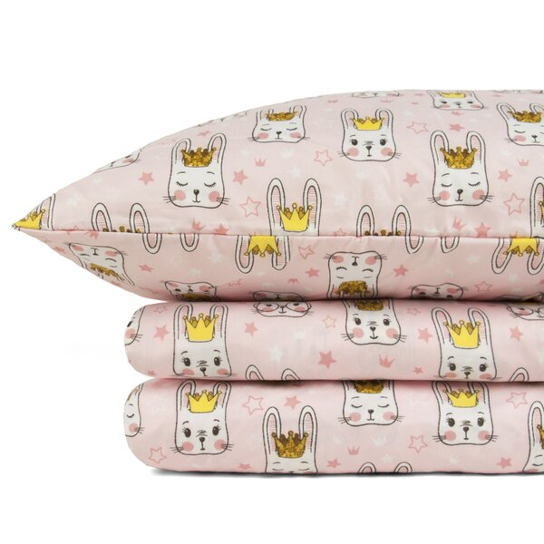 Southampton Shark Bunny Super Soft Fitted Sheet Set by Zoomie Kids