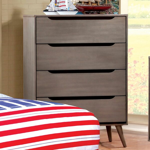 Eisen 4 Drawer Chest by Mercury Row