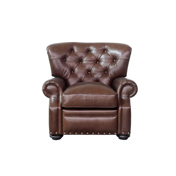 Ty Leather Manual Recliner by Canora Grey