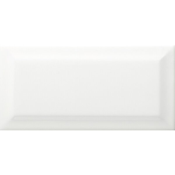 Choice Beveled 3 x 6 Ceramic Subway Tile in Glossy White by Emser Tile
