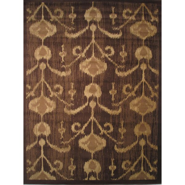 Inspiration Brown/Cream Area Rug by L.A. Rugs