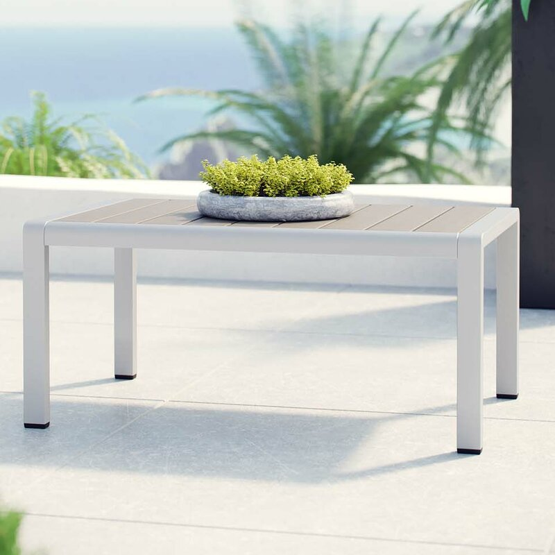 Coline Outdoor Metal Patio Coffee Table - Orren Ellis Coline Outdoor Metal Patio Coffee Table Wayfair