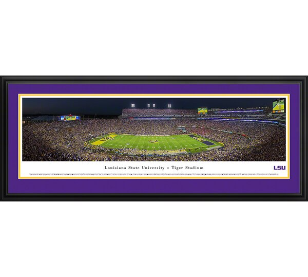 NCAA Louisiana State University by James Blakeway Framed Photographic Print by Blakeway Worldwide Panoramas, Inc