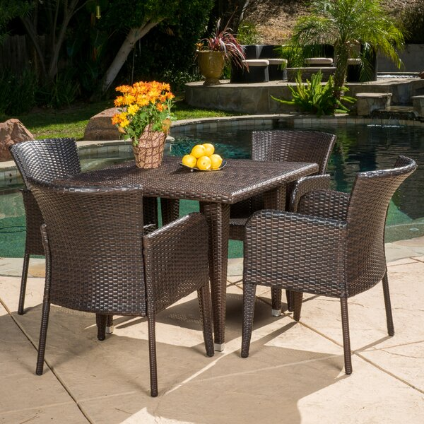 Dowling 5 Piece Dining Set by Bay Isle Home