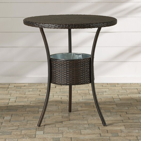 Mattison Wicker Table with Ice Pail by Brayden Studio