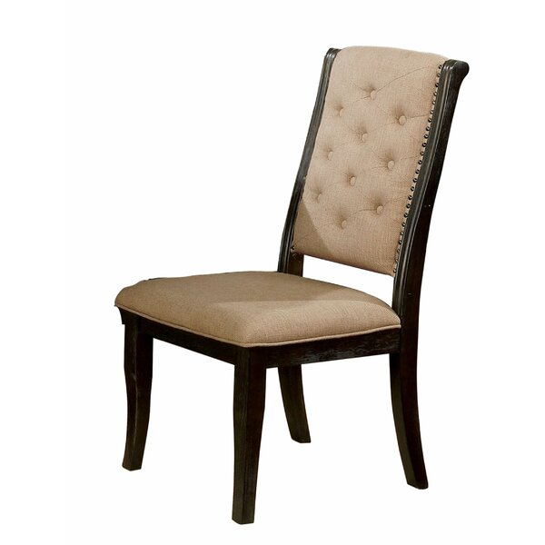 Ricketts Tufted Upholstered Side Chair in Brown (Set of 2) by Darby Home Co Darby Home Co