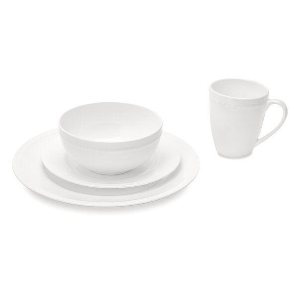 Mattie 32 Piece Bone China Dinnerware Set, Service for 8 by Breakwater Bay
