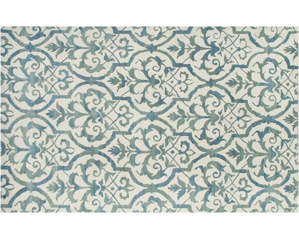Newcastle Hand-Tufted Blue Area Rug by Meridian Rugmakers