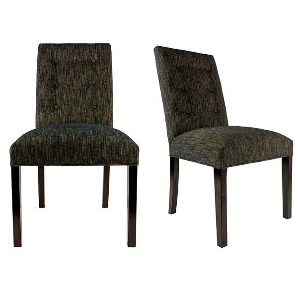Kacey Straight Upholstered Dining Chair (Set of 2) by Sole Designs