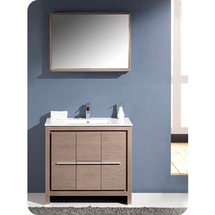 Best Price Allier 36 Single Bathroom Vanity Set with Mirror By Fresca