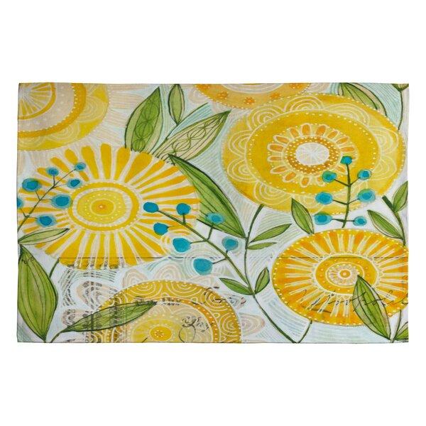 Cori Dantini Sun Burst Flowers Novelty Rug by Deny Designs
