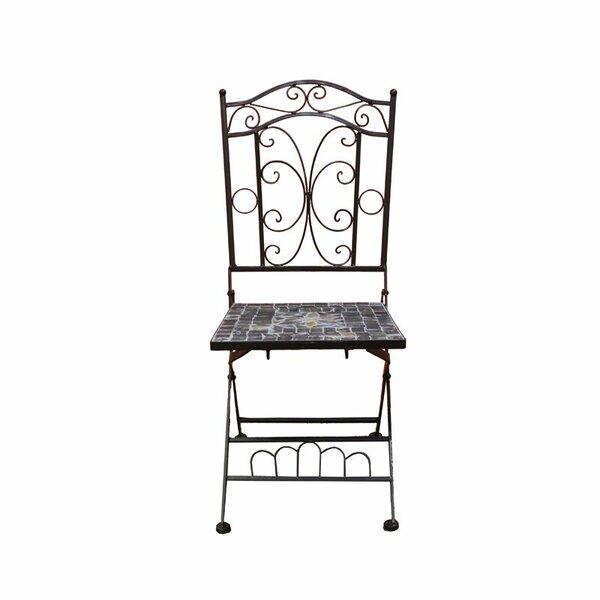 Carrolltown Mosaic Patio Dining Chair by Fleur De Lis Living