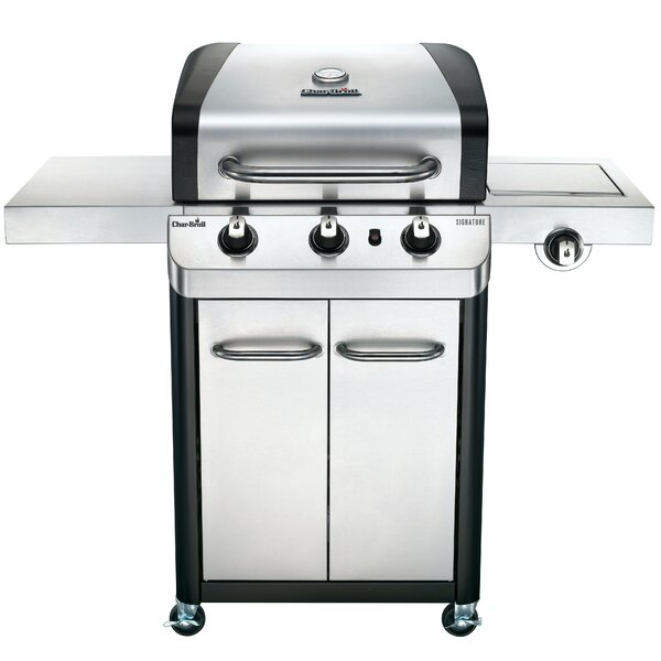 Signature 3-Burner Propane Gas Grill with Cabinet