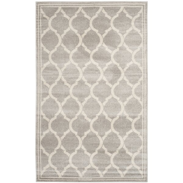 Maritza Power Loomed Light Gray/Ivory Indoor/Outdoor Area Rug by Willa Arlo Interiors