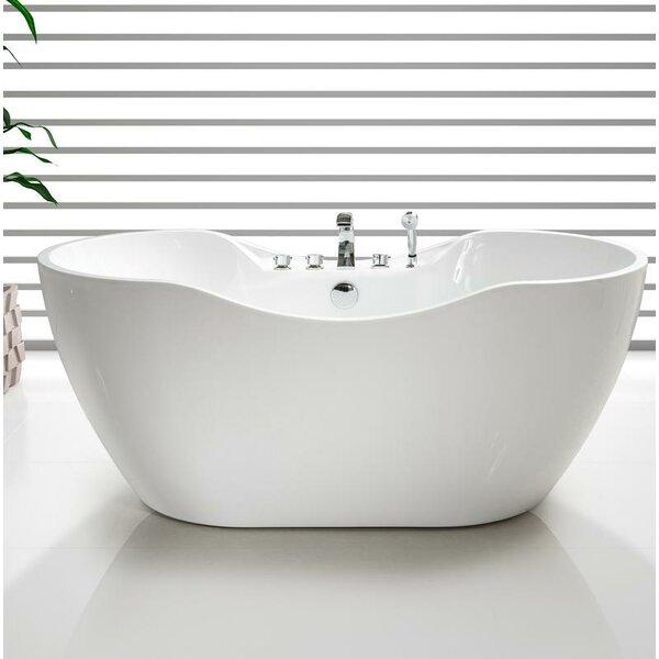 67 x 32 Freestanding Soaking Bathtub by Streamline Bath
