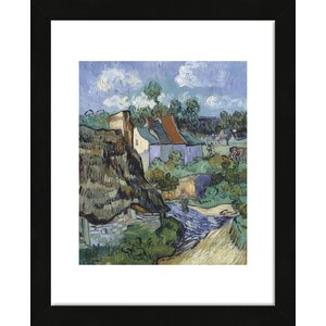 'Houses at Auvers' by Vincent van Gogh Framed Painting Print by McGaw Graphics