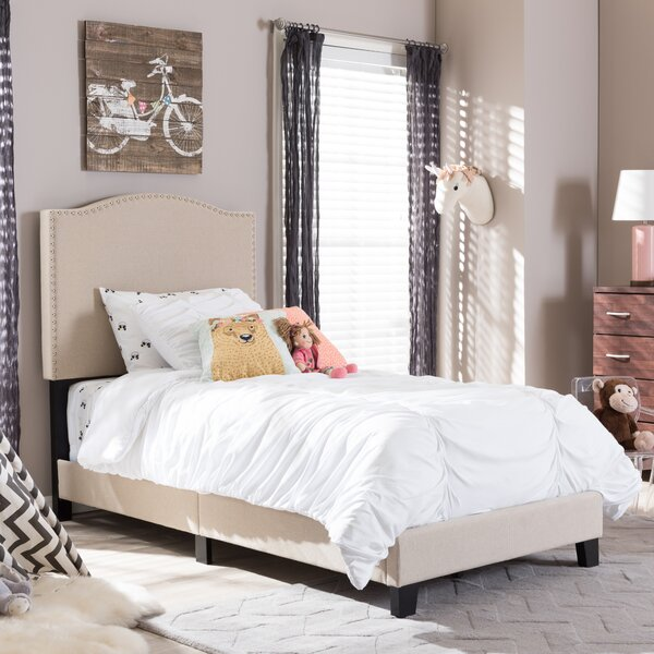 Baxton Studio Twin Upholstered Panel Bed by Wholesale Interiors