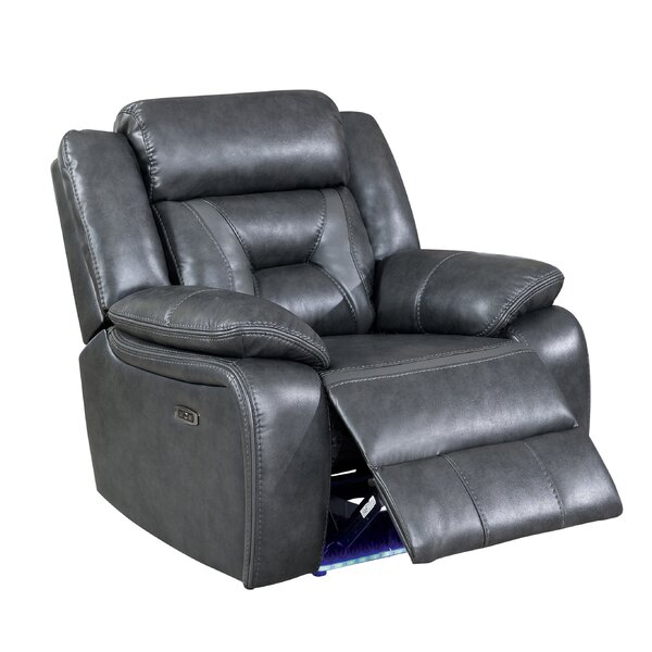Eberle Power Faux Leather Manual Glider Recliner By Winston Porter