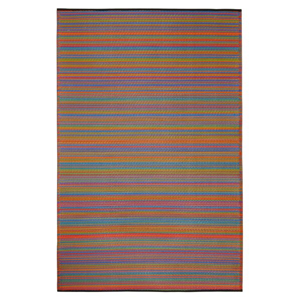 Raub Hand Woven Yellow/Red Indoor/Outdoor Area Rug by Wrought Studio
