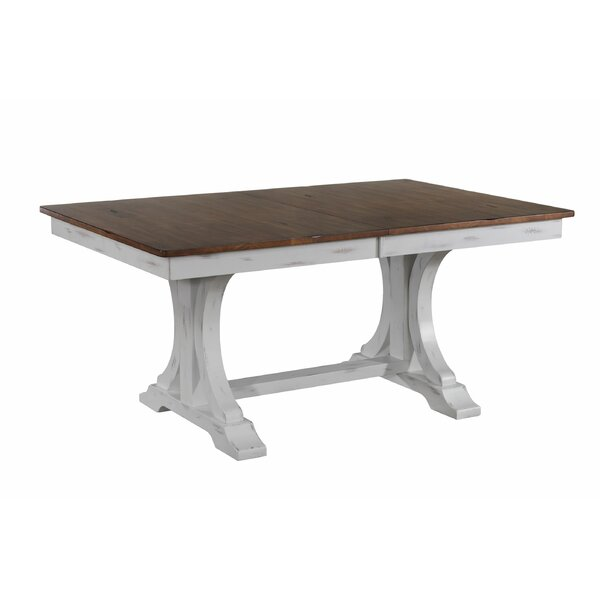 Debbra Extendable Solid Wood Dining Table by Gracie Oaks