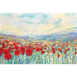 Iris Scott - 'Poppies of Oz' Rectangle Painting Print on Wrapped Canvas by Winston Porter