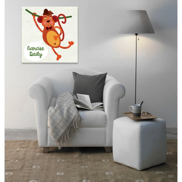 Marvin Monkey Exercise Canvas Art by Viv + Rae