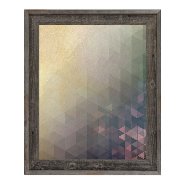 Cerise Cubic Resonance Framed Graphic Art on Canvas by Click Wall Art