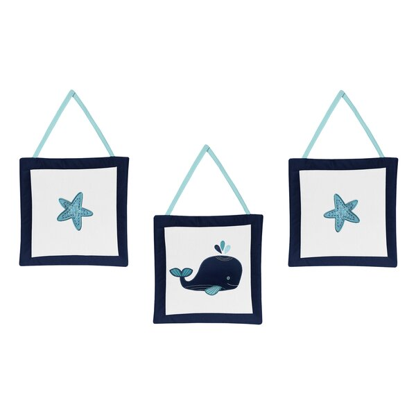 Whale 3 Piece Wall Hanging Set by Sweet Jojo Designs