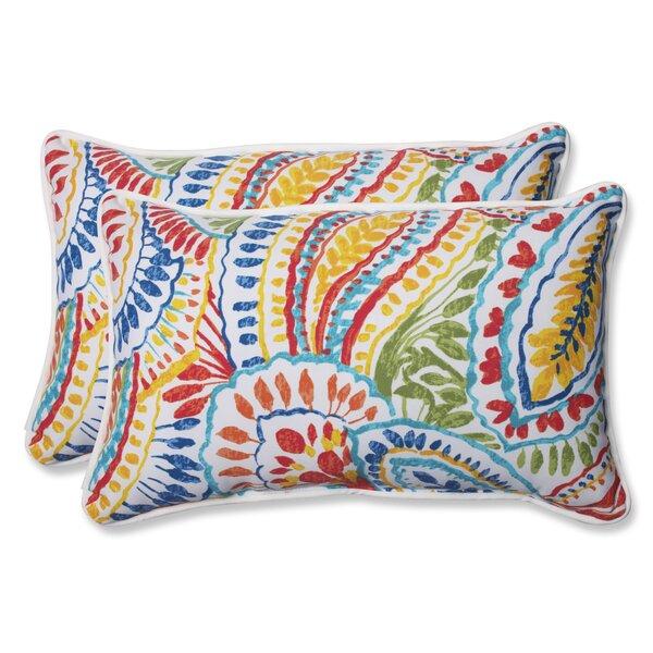 Toshia Indoor/Outdoor Lumbar Pillow (Set of 2)