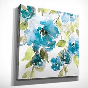 'Belle's Blue I' by Carol Robinson Painting Print on Wrapped Canvas by Wexford Home