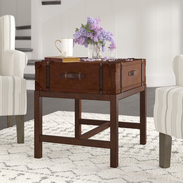 Latitudes Suitcase End Table by 17 Stories