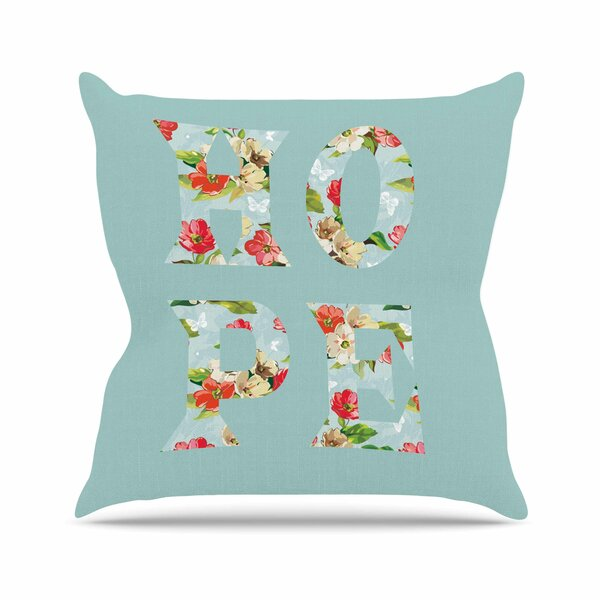 Suzanne Carter Hope Floral Outdoor Throw Pillow by East Urban Home