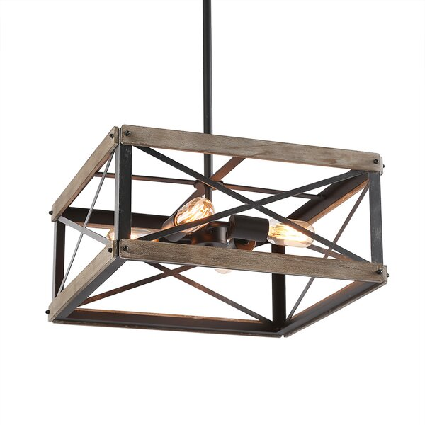 Cortez 4-Light Unique / Statement Rectangle / Square Chandelier By Williston Forge