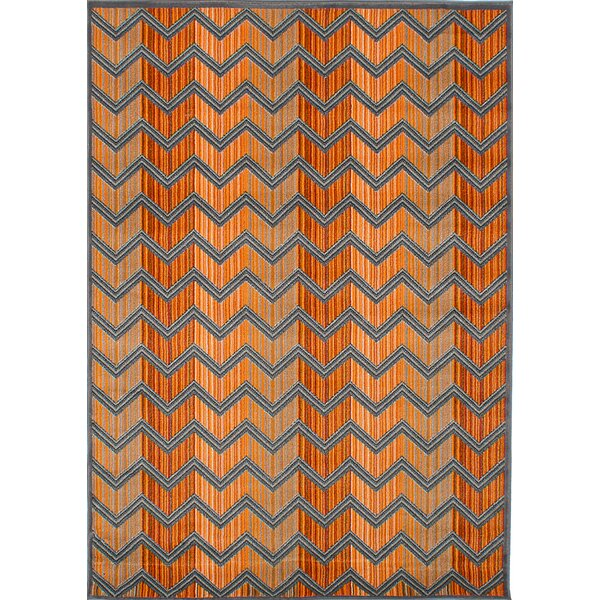 Griffeth Orange Area Rug by Ivy Bronx