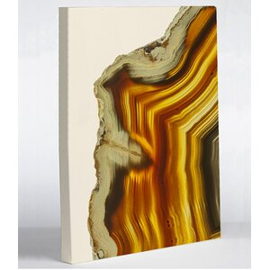 'Geode Amber Gold' Graphic Art on Wrapped Canvas by One Bella Casa