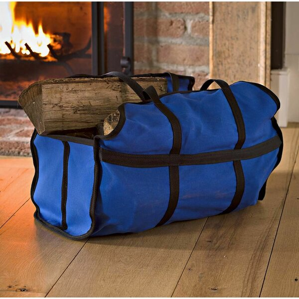 Easy-Load Stand-Up Canvas Log Carrier by Plow & Hearth
