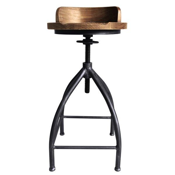 Blount Adjustable Height Swivel Bar Stool by Williston Forge