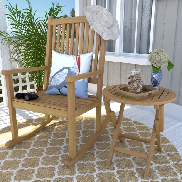 Bristol 2 Piece Patio Chair and Table Set by Beachcrest Home