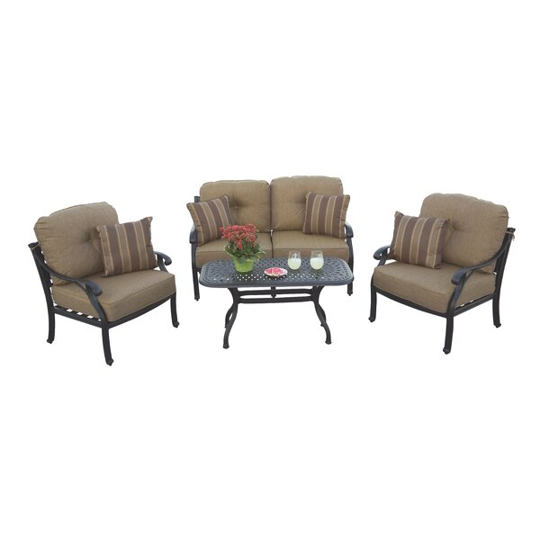 Lincolnville 4 Piece Sofa Set with Cushions by Fleur De Lis Living