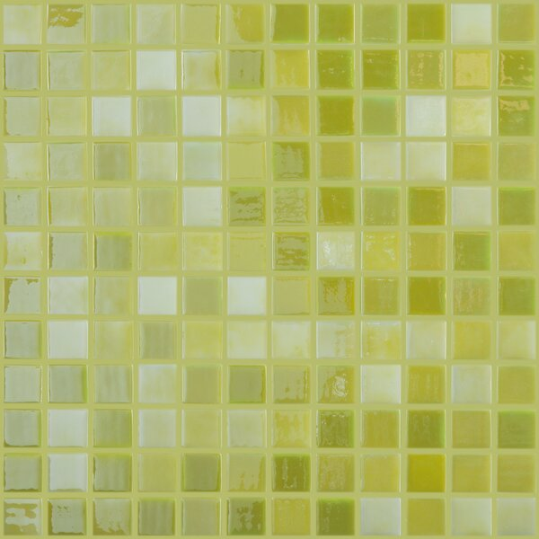 Lux Eco 1 W x 1 L Glass Mosaic in Lemon Lime by Kellani