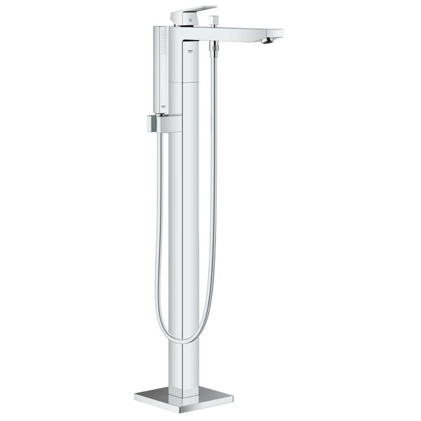 Eurocube Floor Mounted Tub Filler Trim with Hand Shower by Grohe