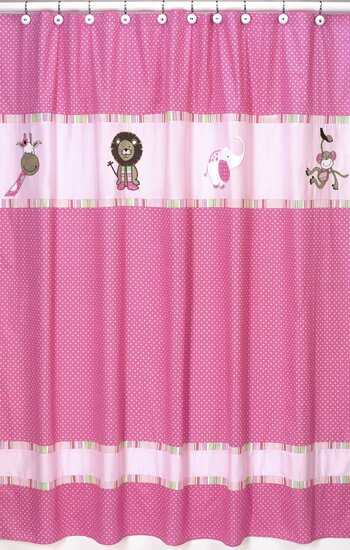 Jungle Friends Shower Curtain by Sweet Jojo Designs