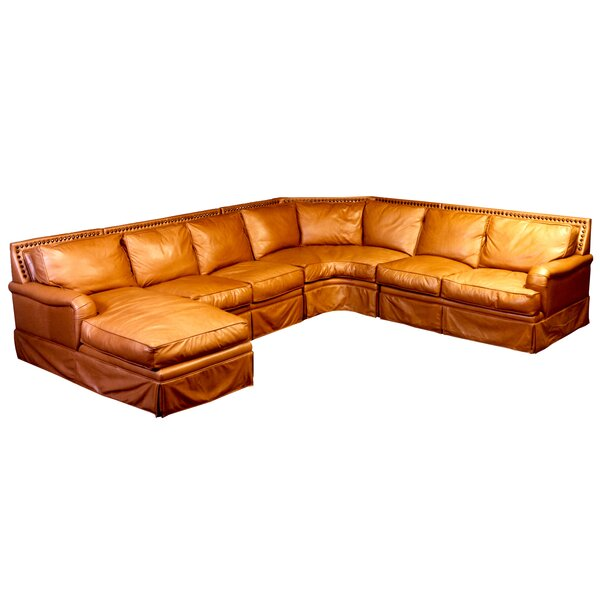 Hacienda Leather Sleeper Sectional by Omnia Leather