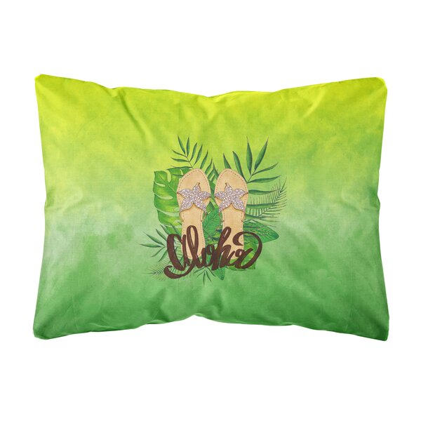 Rossi Aloha Flip Flops Indoor/Outdoor Throw Pillow by Bay Isle Home