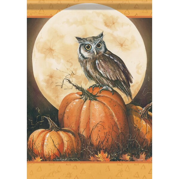 Autumn Owl 2-Sided Polyester 1.5 X 1.04 Ft. Garden Flag By Carson Home Accents by Carson Home Accents