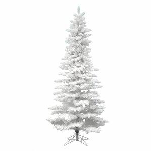 flocked white slim 75 artificial christmas tree unlit - White Slim Christmas Tree