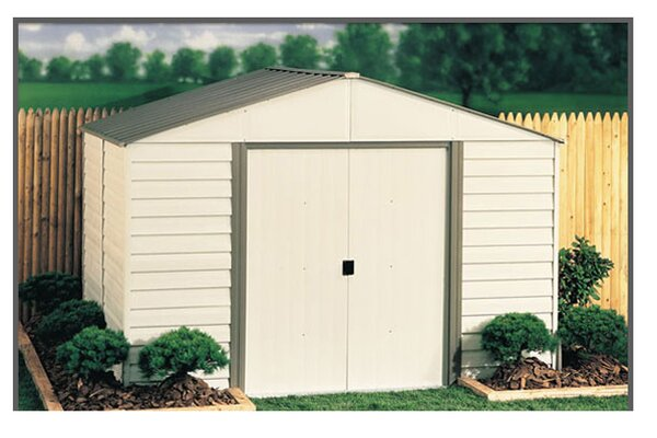 Milford 10 ft. W x 8 ft. D Metal Storage Shed by Arrow