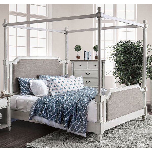 Austen Upholstered Canopy Bed by Ophelia & Co.