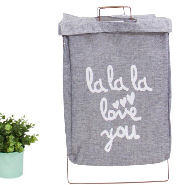 Wire Fold Lidded Laundry Hamper by Ebern Designs