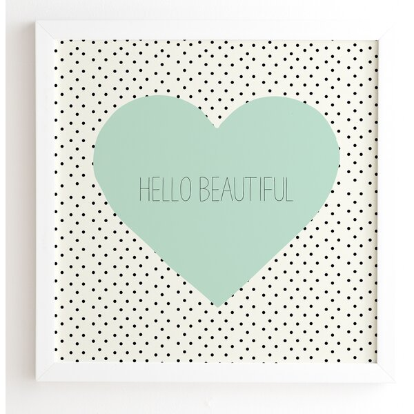 Hello Beautiful Heart  Framed Textual Art by Mercer41